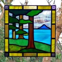 樹林ステンドグラスミニパネル