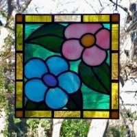花ステンドグラス ミニパネル